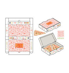 Stock design of rectangular box for pizza slices vector