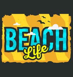summer beach typographic poster design vector image