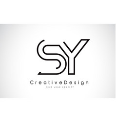Sy s y letter logo design in black colors vector