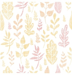 Textile textured fall leaves seamless pattern vector image