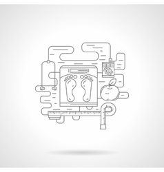 Training program flat line icon vector image