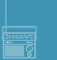 transistor radio vector image vector image