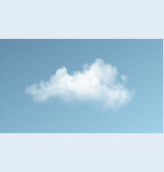 transparent clouds isolated on blue background vector image