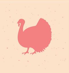 turkey vintage logo retro print poster vector image