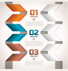 Twisted paper ribbons edging text fields vector