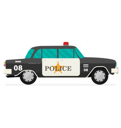 vintage black police car with the sheriffs star vector image