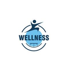 Wellness human logo design vector