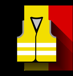 yellow vests as a symbol protests in belgium vector image