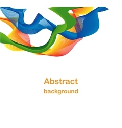 Abstract colorful wave backdrop vector image vector image