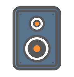 audio monitor colorful line icon sound speaker vector image
