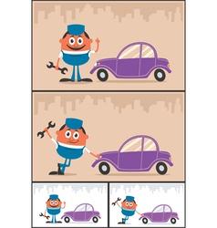 Auto Mechanic vector image