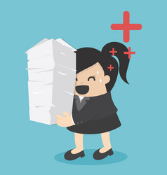 business woman a lot of work vector image vector image