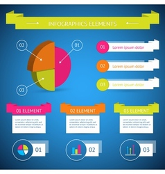 Infographic diagram elements vector image