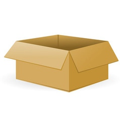 Open Cardboard Package vector image