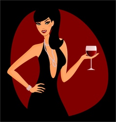 red wine vector image