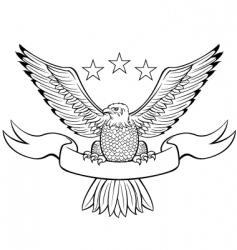 bald eagle black vector image