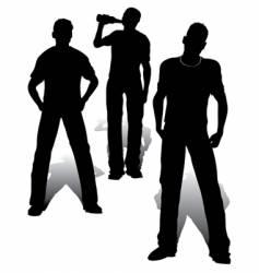 boys group vector image