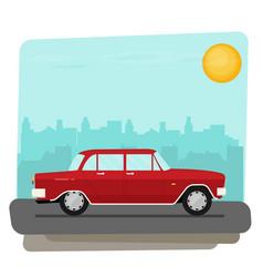 flat old car vector image