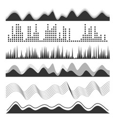 music sound waves pulse abstract digital vector image vector image