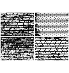 Set of Abstract Grunge Brick Wall vector image