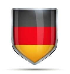 Shield with flag Germany vector image vector image