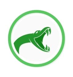 snake logo template Viper head symbol or vector image