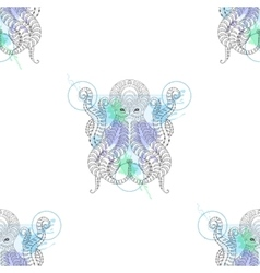 Tattoo Octopus Zentangle stylized Hand drawn vector image