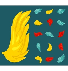 Wing Icon Flat vector image vector image