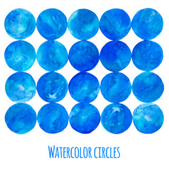 blue watercolor circle vector image vector image