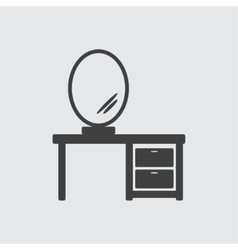 Mirror on tabel icon vector