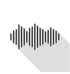 sound waves icon black icon with flat style vector image