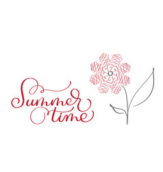 Summer time vintage text on white vector