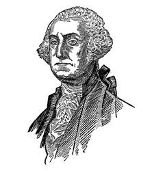 george washington vintage vector image vector image