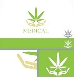 Medical dispensary concept branding design templat vector