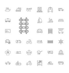 33 transportation icons vector