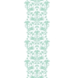 abstract green ikat vertical border vector image