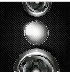 Abstract musical background with carbon texture vector image