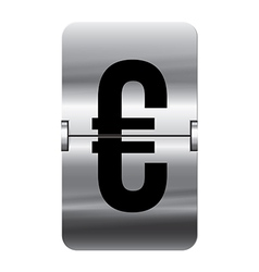 Alphabet silver flipboard letters euro vector image