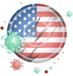 America against covid-19 sign and symbol vector