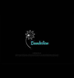 beauty dandelion flower logo design vector image