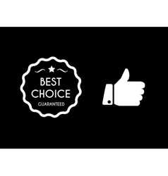 Best choice icons vector image