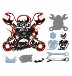 bikers symbols set vector image
