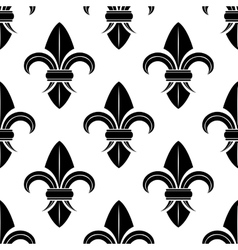 Black and white fleur de lys pattern vector image