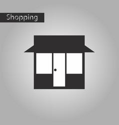 black and white style icon shop vector image