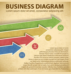 business diagram template vector image