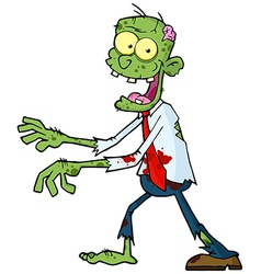 Cartoon Green Zombie vector image