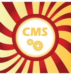 CMS settings abstract icon vector