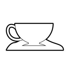 coffee cup with sugar vector image