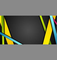 colorful abstract stripes corporate tech vector image