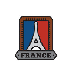 country badge collections paris symbol of big vector image